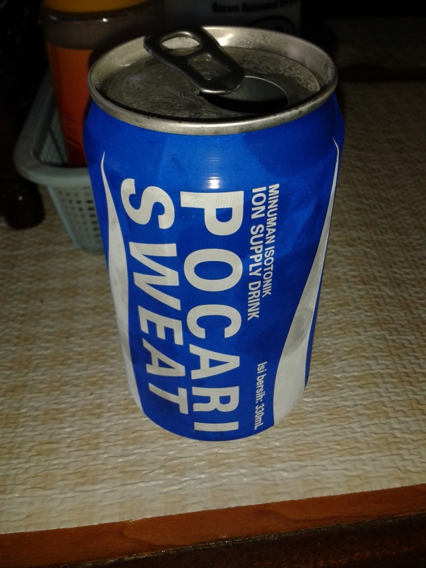 Just what you want after sweating all day is a nice can of refreshing sweat!