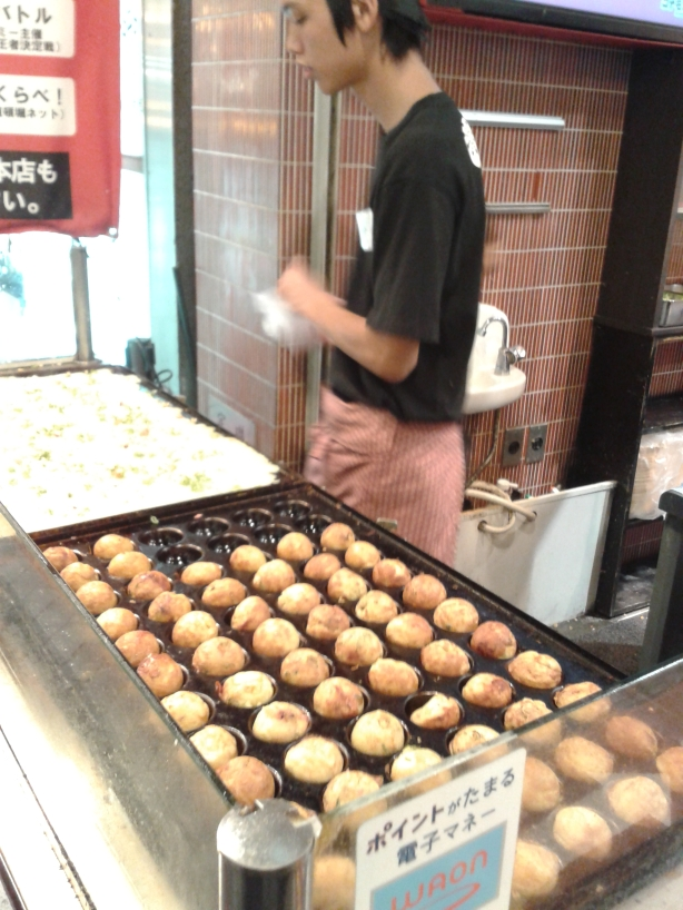 Octopus balls prepared while you watch