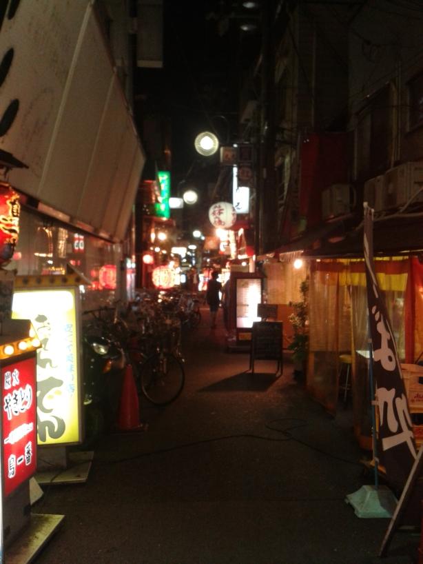 back alley in Osaka