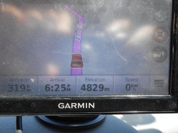 4829 meters = 15843 feet = 3 miles!